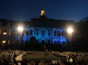 Opera en plen air staged in the cour d' honneur at l' Hotel des Invalides.